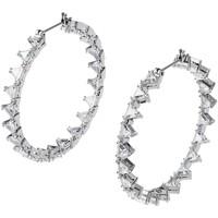 Montres & Bijoux Femme Boucles d'oreilles Swarovski Créoles  Millenia Blanc