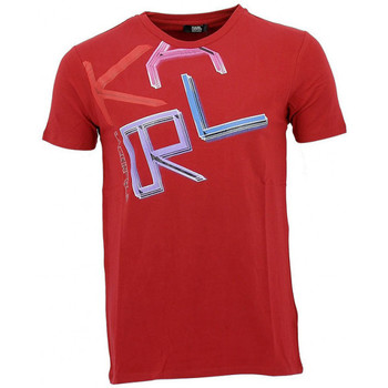 Vêtements Homme T-shirts manches courtes Karl Lagerfeld Tee-shirt Karl Rouge