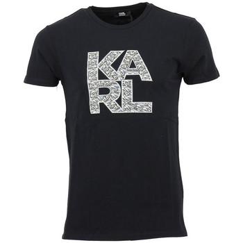 Vêtements Homme T-shirts manches courtes Karl Lagerfeld Tee-shirt Karl Noir