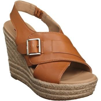 Chaussures Femme Sandales et Nu-pieds UGG Sandale compensée à enfiler Marron