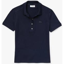 Vêtements Femme Polos manches courtes Lacoste Polo Best Femme - Bleu Bleu