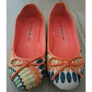 Chaussures Femme Ballerines / babies The Divine Factory Ballerines The Divine Factory oranges Multicolore
