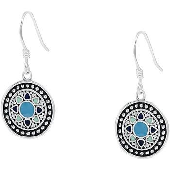 Montres & Bijoux Femme Boucles d'oreilles Cleor Boucles d'oreilles  en Argent 925/1000 Blanc Blanc