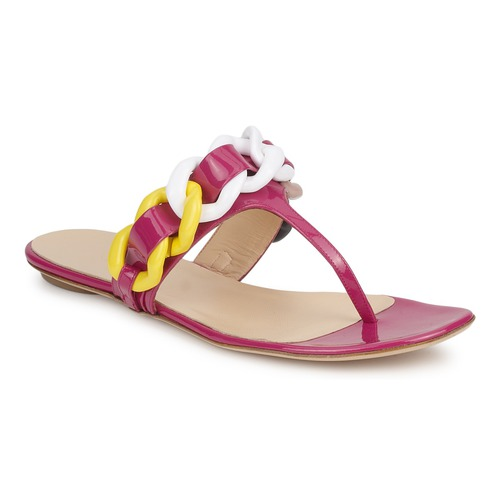 Chaussures Femme Tongs Versus by Versace FSD364C Rose / Blanc / Jaune