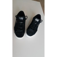 Chaussures Femme Baskets basses Puma Baskets Puma Suede Noir
