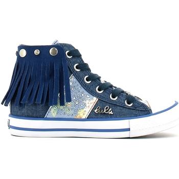 Chaussures Fille Baskets montantes Lulu LV010060T Bleu