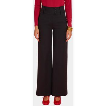 Vêtements Femme Pantalons fluides / Sarouels Haut Large Oasis Pantalon Large Granito NOIR