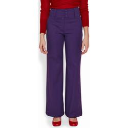 Vêtements Femme Pantalons Haut Large Oasis Pantalon Large Granito VIOLET