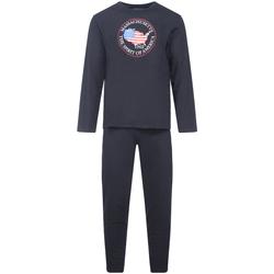Vêtements Homme Pyjamas / Chemises de nuit Athena - pyjama long Noir