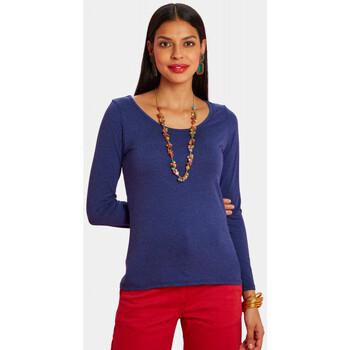Vêtements Femme T-shirts manches longues Haut Large Oasis T-shirt Tigre BLEU DENIM