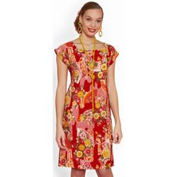 Vêtements Femme Robes courtes Haut Large Oasis Robe Floralie ROUGE