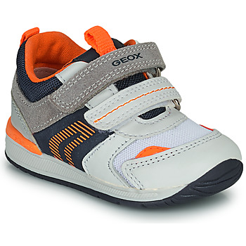 Chaussures Garçon Baskets basses Geox B RISHON Blanc