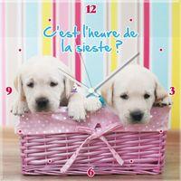 Maison & Déco Enfant Horloges Le Monde Des Animaux Pendule Chiots Multicolore