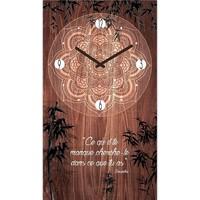 Maison & Déco Horloges Zen Et Ethnique Pendule Citation 50 cm Ce qu'il te manque Marron