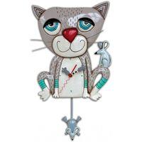 Maison & Déco Horloges Le Monde Des Animaux Pendule en forme Allen Chat Gris