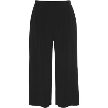 Vêtements Femme Pantacourts Lascana Pantacourt large Basic Noir