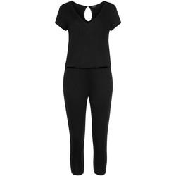 Vêtements Femme Combinaisons / Salopettes Lascana Combinaison pantacourt Jersey Noir