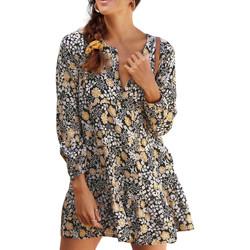 Vêtements Femme Paréos Lascana Tunique de plage manches longues Ranunkel Imprimé
