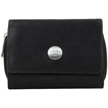 Sacs Femme Portefeuilles Fuchsia Porte monnaie  cuir souple mat Noir Multicolor