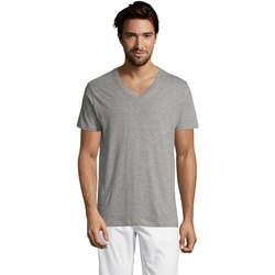 Vêtements Homme T-shirts manches courtes Sols Master camiseta hombre cuello pico Gris