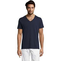 Vêtements Homme T-shirts manches courtes Sols Master camiseta hombre cuello pico Azul