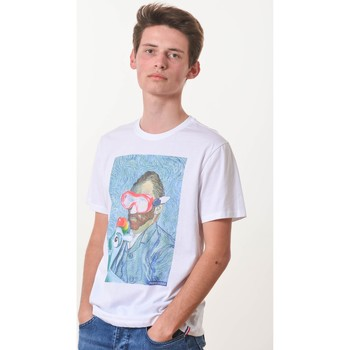 Vêtements T-shirts manches courtes French Dude Vanwater Blanc