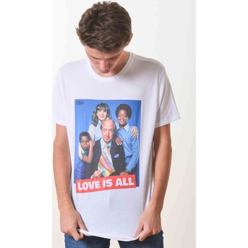 Vêtements T-shirts manches courtes French Dude Love Is All Blanc