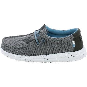 Chaussures Garçon Mocassins Hey Dude WALLYYOUTH.28_33 Gris