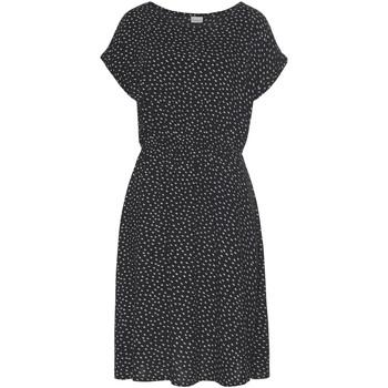 Vêtements Femme Robes courtes Lascana Robe estivale manches courtes Black And White Noir