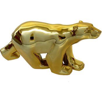 Maison & Déco Statuettes et figurines Muzeum Statue L'ours Gold de François Pompon 11 cm Doré