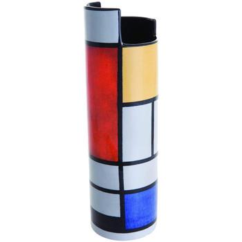 Maison & Déco Vases, caches pots d'intérieur Muzeum Vase en céramique silhouette Mondrian - Composition Gris