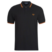 Vêtements Homme Polos manches courtes Fred Perry TWIN TIPPED FRED PERRY SHIRT Noir