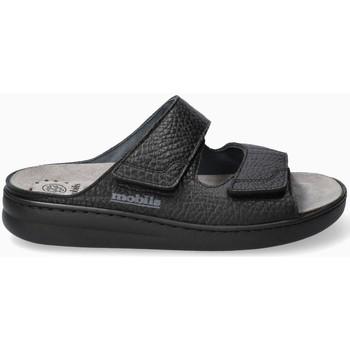 Chaussures Homme Sandales et Nu-pieds Mephisto Sandales cuir JAMES Noir