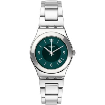 Montres & Bijoux Homme Montres Analogiques Swatch Montre  Middlesteel Collection Irony Blanc