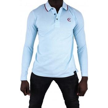 Vêtements Homme Polos manches longues Cerruti 1881 Roma Bleu Ciel