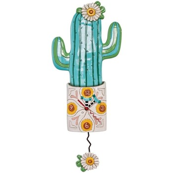 Maison & Déco Horloges Zen Et Ethnique Pendule en forme de Cactus by Allen Vert
