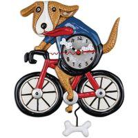 Maison & Déco Horloges Le Monde Des Animaux Pendule en forme de Chien à vélo par Allen Noir