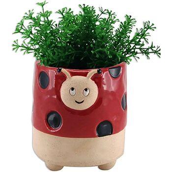 Maison & Déco Vases, caches pots d'intérieur Le Monde Des Animaux Cache Pot de Fleurs - Coccinelle Rouge
