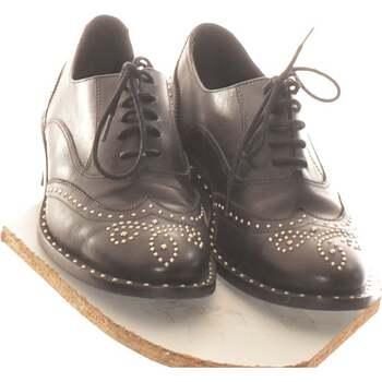 Chaussures Femme Derbies Bérénice Paire De Chaussures Plates  37 Noir