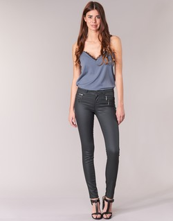 Vêtements Femme Pantalons 5 poches Only NEW OLIVIA COATED Noir