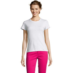 Vêtements Femme T-shirts manches courtes Sols Miss camiseta manga corta mujer Blanco