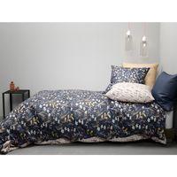 Maison & Déco Housses de couettes Home Collection Parure de housse de couette 260x240 coton Dove Bleu