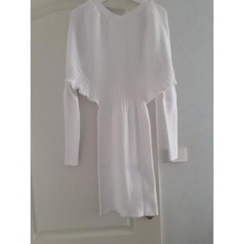 Vêtements Femme Robes courtes abolliria robe pull blanc Blanc