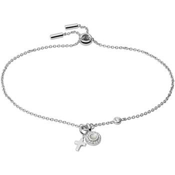 Montres & Bijoux Femme Bracelets Fossil Bracelet  Little Charms argent et nacre Blanc