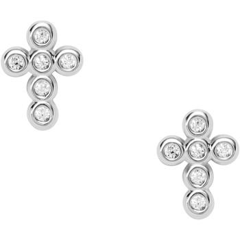 Montres & Bijoux Femme Boucles d'oreilles Fossil Clous d'oreilles  Crosses Blanc