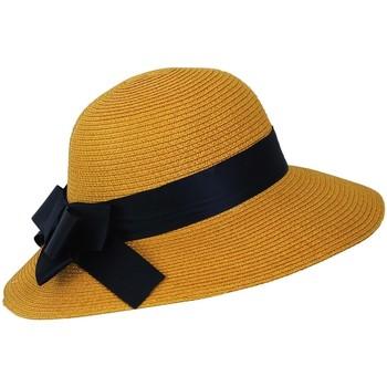 Accessoires textile Femme Chapeaux Chapeau-Tendance Chapeau cloche VALSA Jaune moutarde