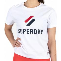 Vêtements Femme T-shirts manches courtes Superdry Classic Blanc