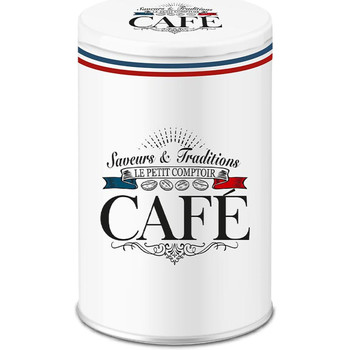 Maison & Déco Paniers, boites et corbeilles Retro Boite blanche pour ranger le café style Frenchy Blanc