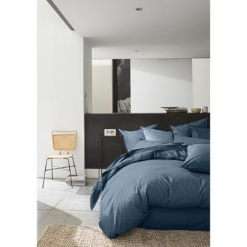 Maison & Déco Housses de couettes Baton Rouge Housse de couette 155x220 Lin Lin uni Bleu