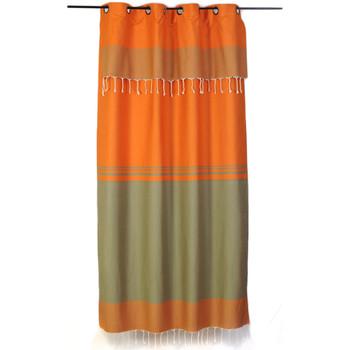 Maison & Déco Rideaux, stores Fouta Futée TANGER 210 à 240cm rideau ajustable hauteur Orange